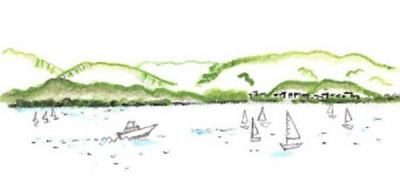 びわ湖大津館からの眺望