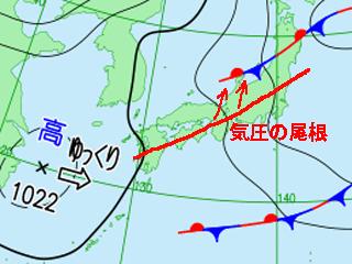 2月7日(日)9時の実況天気図