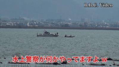 山ノ下湾から眺めた琵琶湖南湖はまたも南寄りの強風!! #今日の琵琶湖(YouTubeムービー)