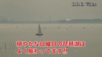 4日連続ベタナギの琵琶湖!! さすがにボートが多いですね #今日の琵琶湖(YouTubeムービー)