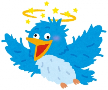 クルクルパーのTwitterブルーバード(いらすとや)