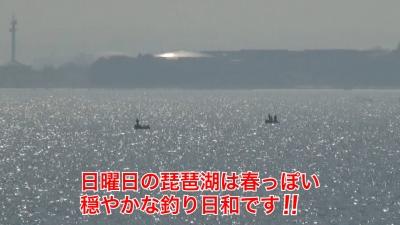 やっと穏やかになった日曜日の琵琶湖!! 湖上はボートがパラパラ #今日の琵琶湖(YouTubeムービー)
