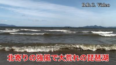北寄りの強風で白波立ちまくりの大荒れ #今日の琵琶湖(YouTubeムービー)