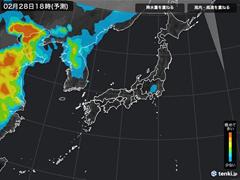 PM2.5分布予測(3月1日9時)