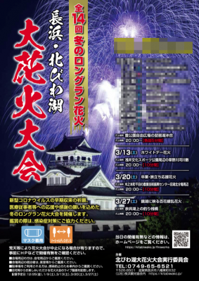 長浜・北びわ湖花火大会ポスター