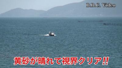 サクラ満開!! 黄砂が晴れていい天気になった琵琶湖 #今日の琵琶湖(YouTubeムービー)