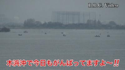 雨予報の日曜日!! 降りだす寸前までがんばる琵琶湖のバスアングラー達 #今日の琵琶湖(YouTubeムービー)