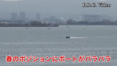 晴天軽風の琵琶湖南湖!! 木浜南部〜赤野井沖にボートがパラパラ #今日の琵琶湖(YouTubeムービー)