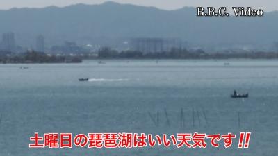 真野浜から眺めた琵琶湖北湖!! 強い北寄りの風で大荒れです #今日の琵琶湖(YouTubeムービー)