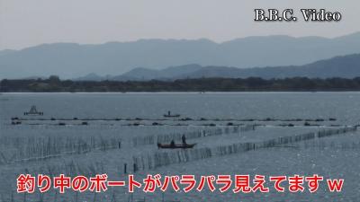 山ノ下湾から眺めた琵琶湖!! 天候回復してボートがパラパラ #今日の琵琶湖(YouTubeムービー)