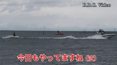 日曜日の琵琶湖は爆風!! 釣り中のボートはパラパラ #今日の琵琶湖(YouTubeムービー)