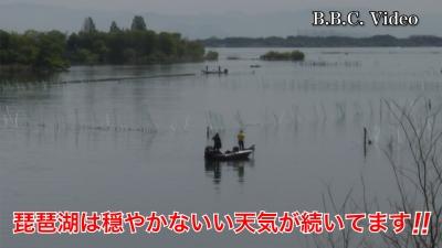 山ノ下湾から眺めた琵琶湖南湖!! 穏やかないい天気が続いてます #今日の琵琶湖(YouTubeムービー)