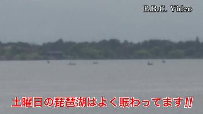 土曜日も穏やかないい天気の琵琶湖!! 湖上は賑やかです #今日の琵琶湖(YouTubeムービー)