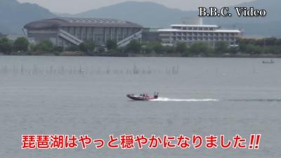 やっと穏やかになった琵琶湖!! ボートはパラパラ #今日の琵琶湖(YouTubeムービー)