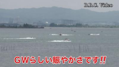 GW5日目!! GWらしい賑わいになった琵琶湖 #今日の琵琶湖(YouTubeムービー)