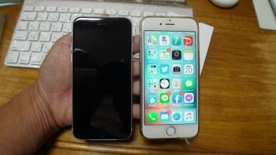 SE2(左)と6sの大きさの比較!! 寸法はまったくかわりません