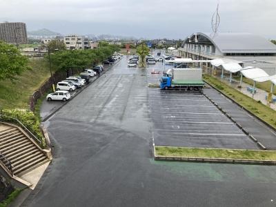GW最終日のびわ湖大橋米プラザは昨日までの混雑が消えてよく空いてます(5月5日13時頃)