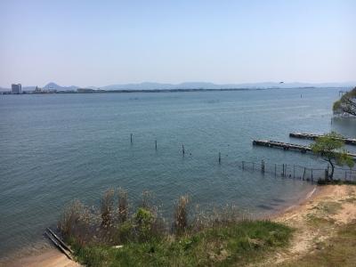 琵琶湖大橋西詰めから眺めた南湖(20/04/29)