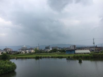 カヤ池から眺めた比良山(8月7日12時20分頃)