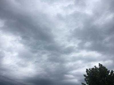 15時頃の堅田周辺は今にも降りだしそうな曇り空です