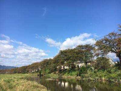 堅田周辺はほぼ快晴のいい天気です(10月14日9時30分頃)