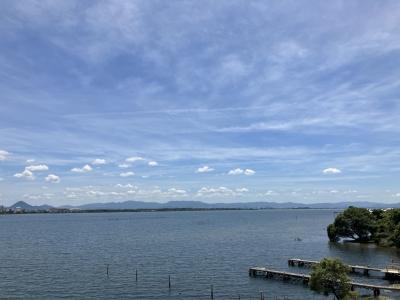 快晴微風のものすごくいい天気の和邇川河口(11月1日10時頃)