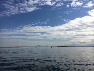琵琶湖南湖は昨日から引き続き晴天微風の穏やかないい天気です(11月13日11時20分頃)