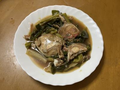 山ノ下湾から眺めた琵琶湖南湖は南風がだいぶ弱まりました(12月23日9時45分頃)