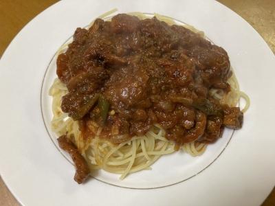 スルメイカのスパゲッティ