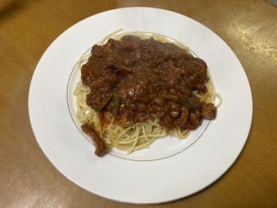 完成!! スルメイカのスパゲッティです