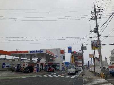 堅田は終日曇り空で雨が降ったり止んだり(2月26日13時頃)