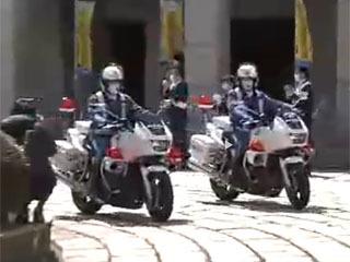 春の全国交通安全運動 滋賀県庁で行われた出発式