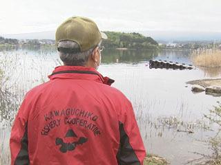 5月6日(水振)まで禁漁の河口湖をパトロール