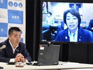滋賀県知事が閣僚らとネット会談