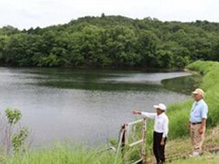 ハザードマップ作成済みの大津市田上の溜め池