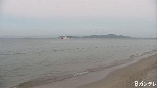 台風接近中の近江舞子中浜水泳場で男子大学生が行方不明に