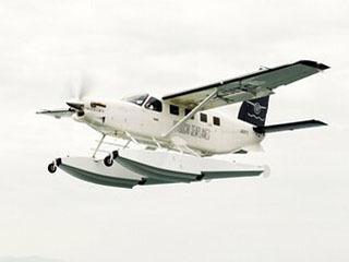 琵琶湖遊覧の実証実験に使用されるせとうちSeaPlanes社の水上機