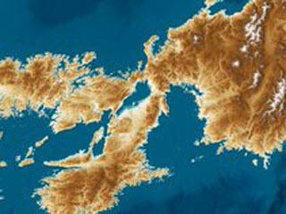 海面が100m上昇したら琵琶湖は奥深い内湾になる