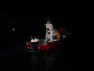 バッテリー上がりで動けなくなり海保に救助されたプレジャーボート