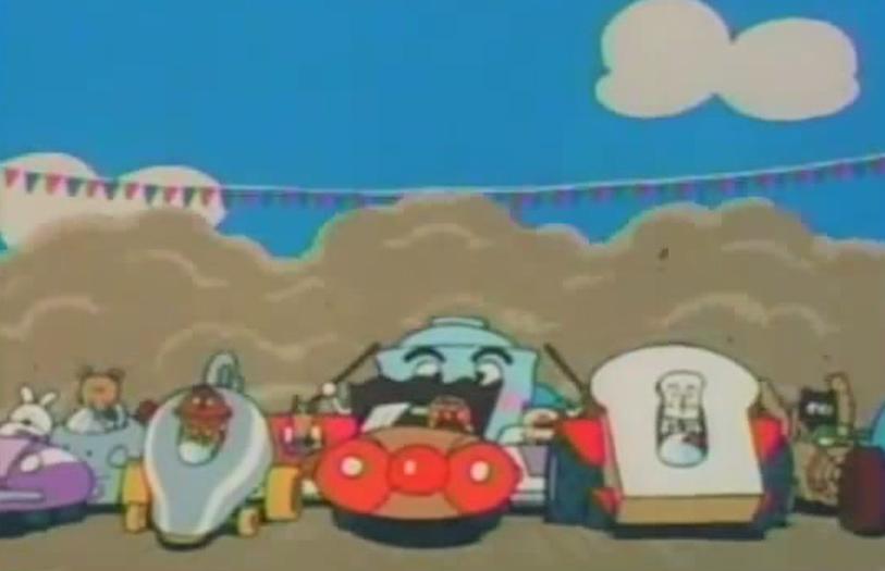 おかしな自動車レース