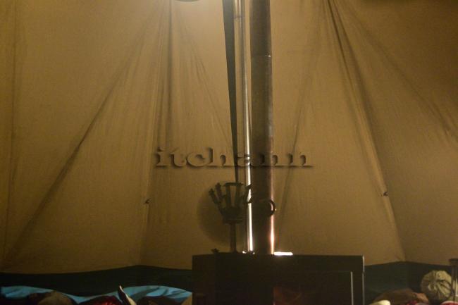何がなんでもキャンプだし 水之元AC 第2キャンプ場 樹氷 テンティピ エコファン 効果 せせり ストアウェイポット 炊飯 ドラゴンフライ