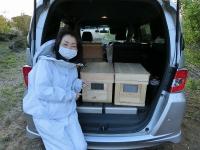養蜂場に到着!お疲れ様(2020407)