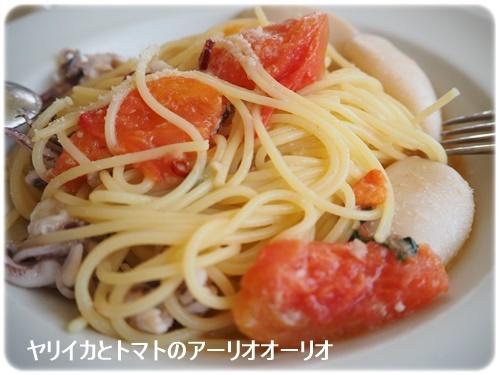 ヤリイカとトマトのアーリオオーリオ