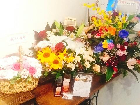10周年お祝い花