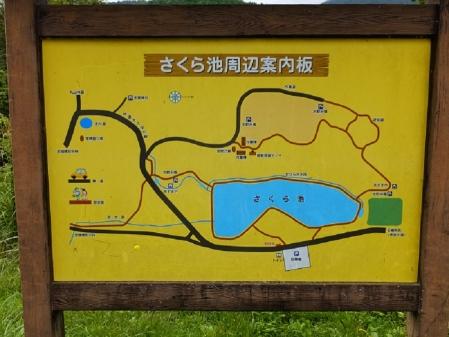 平林桜池の案内板