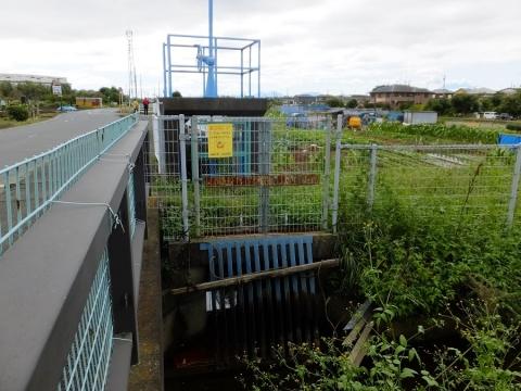 相模川左岸用水の花川用水分水ゲート