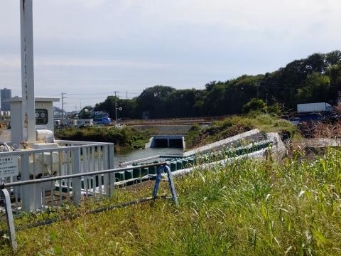 下土棚遊水地D池・連通管