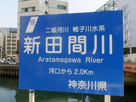 新田間川河川標識