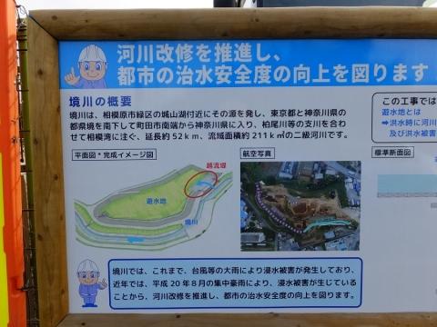 境川の風間遊水地・案内板