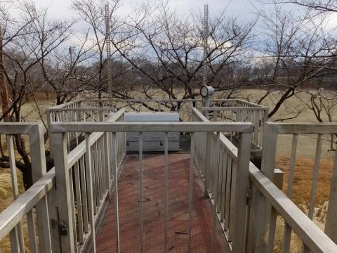 陽光台雨水調整池の水門